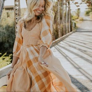 Free people old friends maxi dress